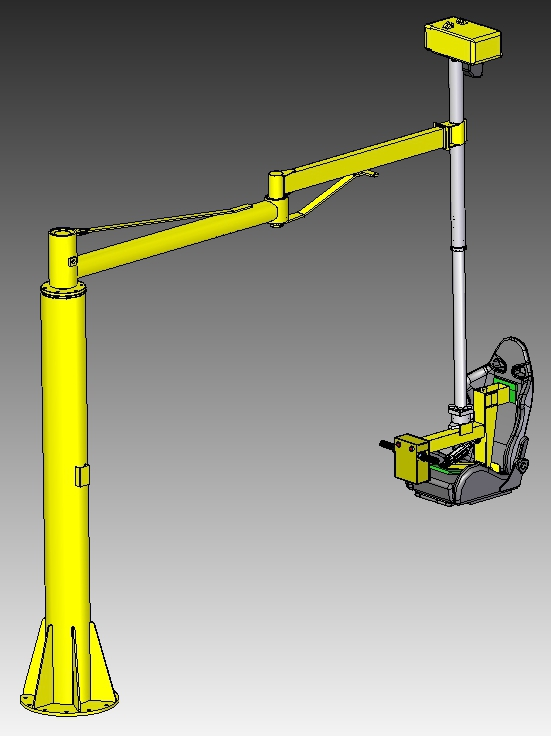 Articulating Arm Hoist : Articulated jib crane manipulators with torque arms rm